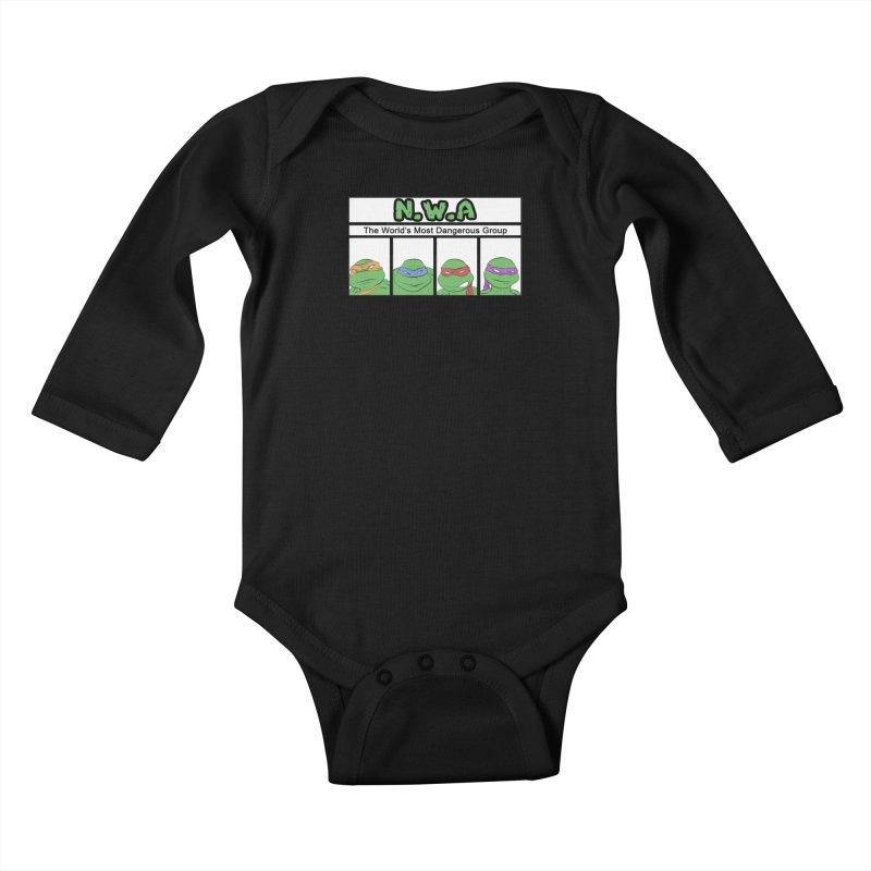 N.W.A Kids Baby Longsleeve Bodysuit by iridescent matter