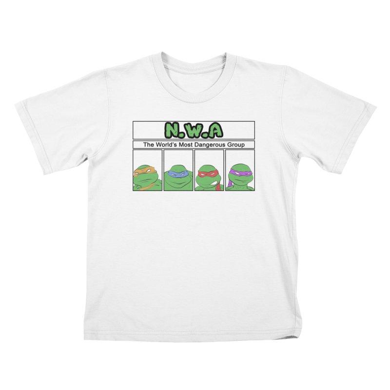 N.W.A Kids T-shirt by iridescent matter