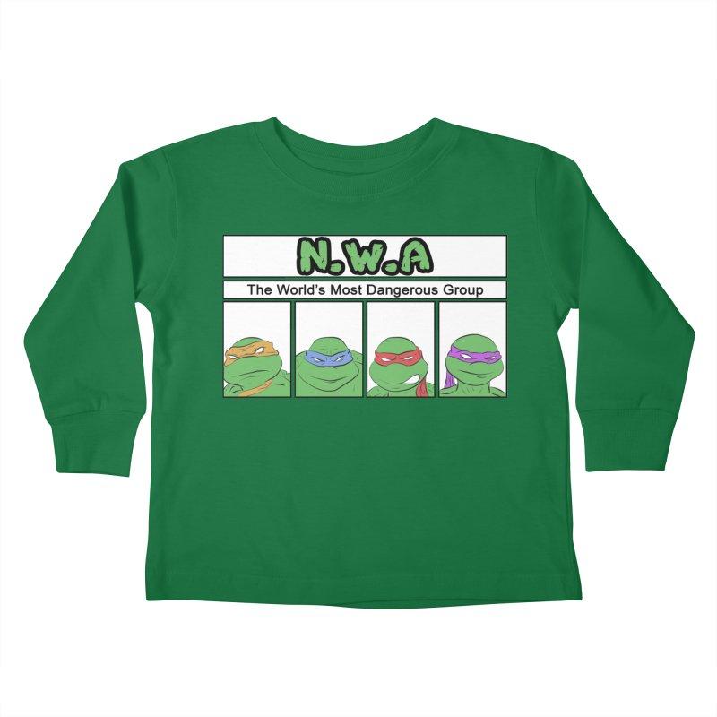 N.W.A Kids Toddler Longsleeve T-Shirt by iridescent matter