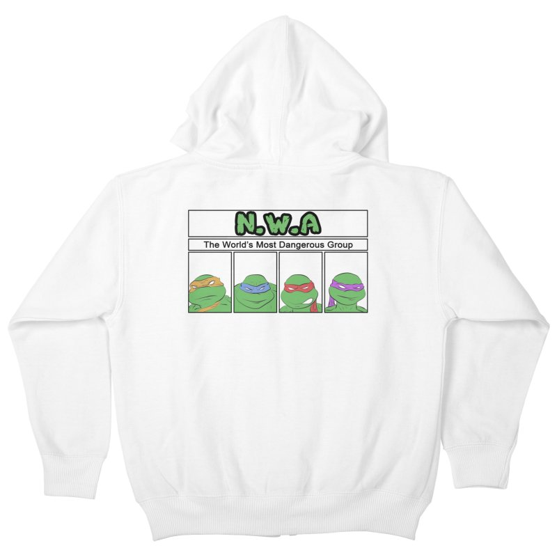 N.W.A Kids Zip-Up Hoody by iridescent matter