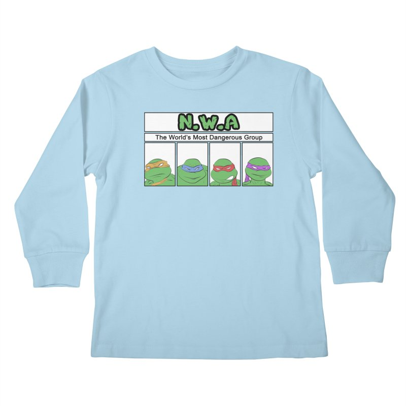 N.W.A Kids Longsleeve T-Shirt by iridescent matter