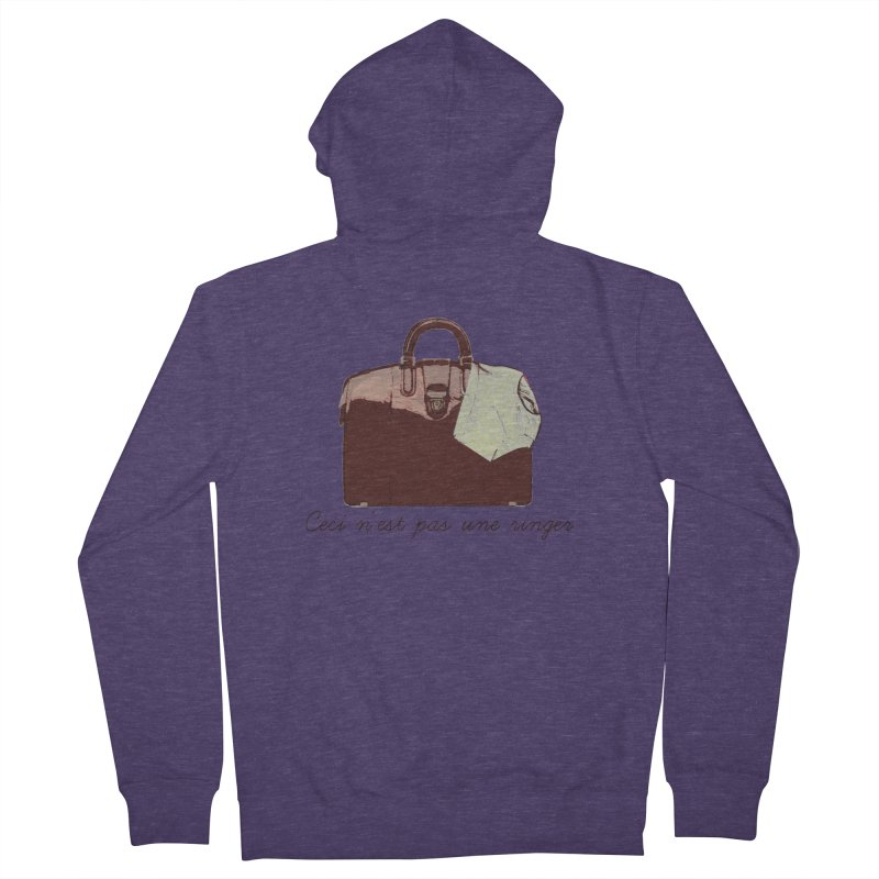 The Treachery of Simple Plans Men's French Terry Zip-Up Hoody by iridescent matter