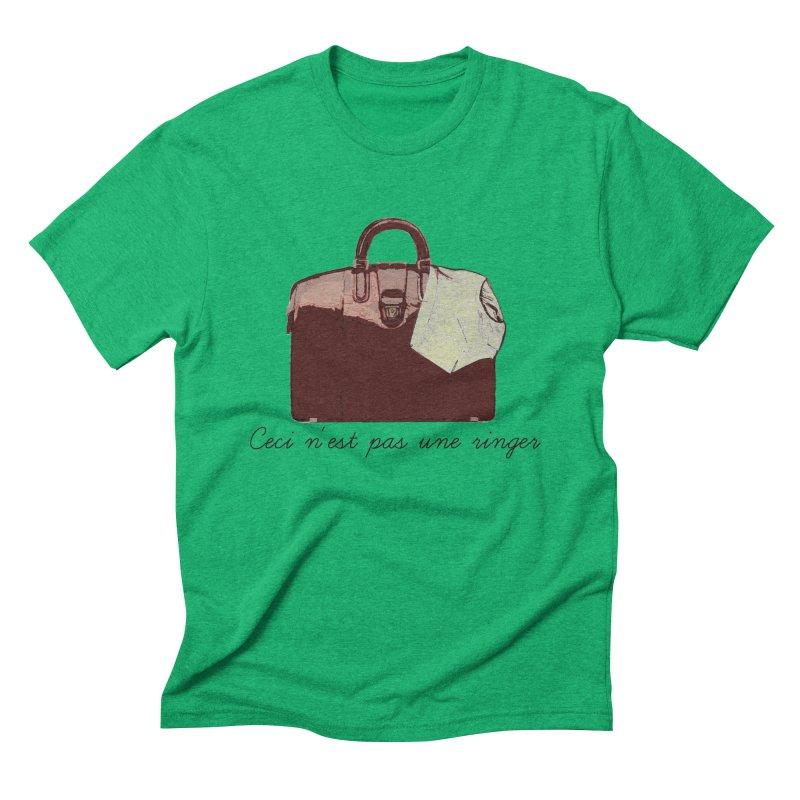 The Treachery of Simple Plans Men's Triblend T-shirt by iridescent matter