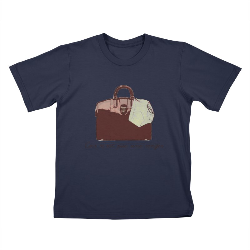 The Treachery of Simple Plans Kids T-Shirt by iridescent matter