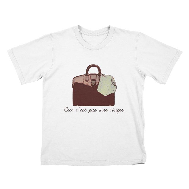 The Treachery of Simple Plans Kids T-shirt by iridescent matter
