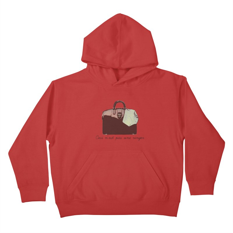The Treachery of Simple Plans Kids Pullover Hoody by iridescent matter
