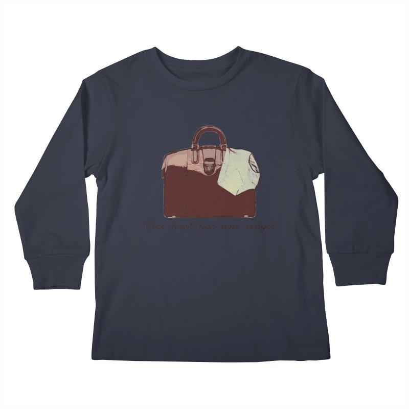 The Treachery of Simple Plans Kids Longsleeve T-Shirt by iridescent matter