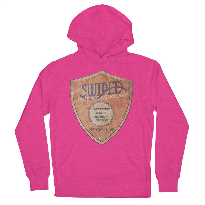 Swiped it from the old lady's liquor cabinet Women's French Terry Pullover Hoody by iridescent matter