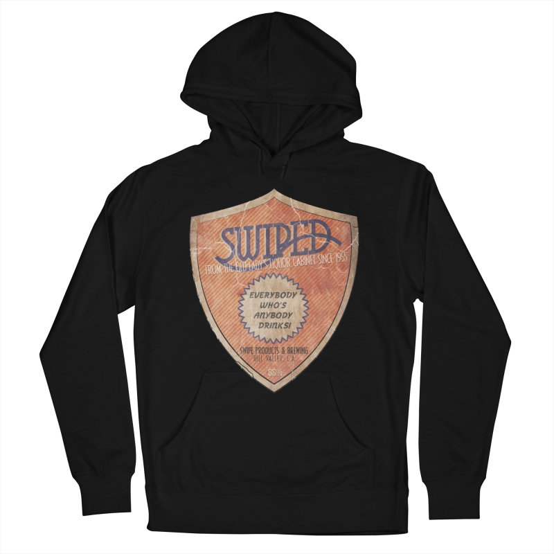 Swiped it from the old lady's liquor cabinet Men's French Terry Pullover Hoody by iridescent matter