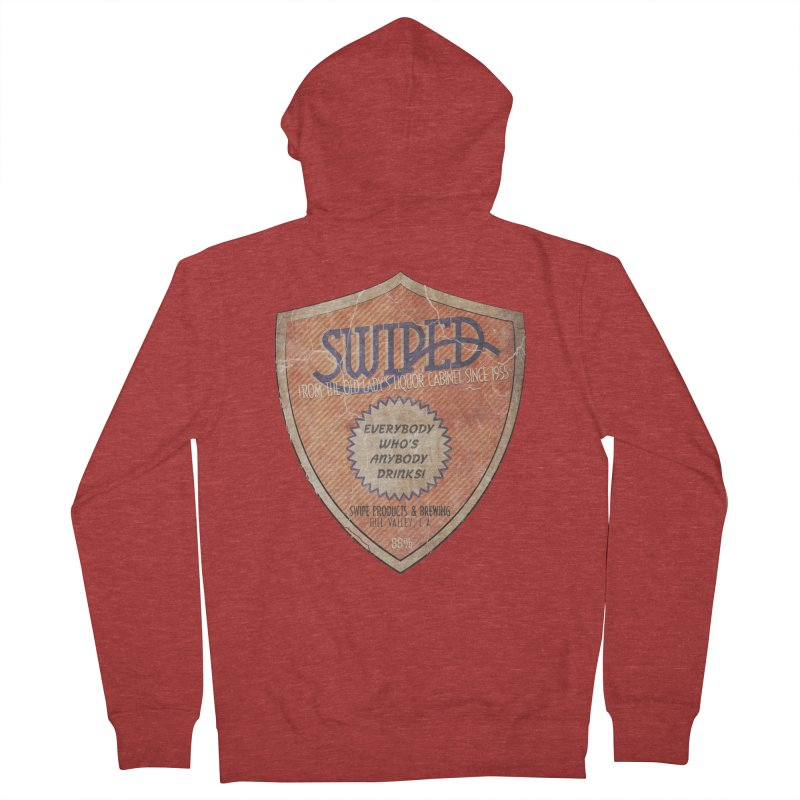 Swiped it from the old lady's liquor cabinet Women's French Terry Zip-Up Hoody by iridescent matter