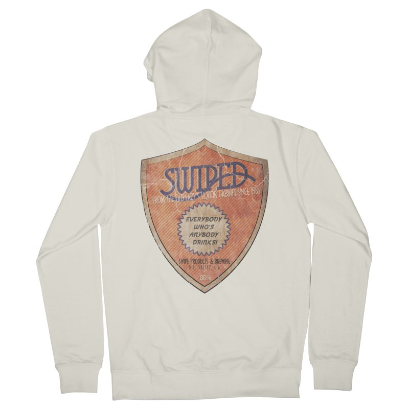 Swiped it from the old lady's liquor cabinet Women's Zip-Up Hoody by iridescent matter