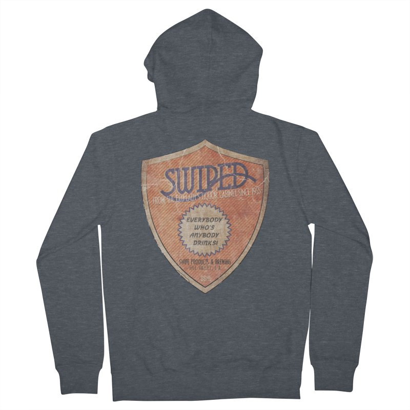 Swiped it from the old lady's liquor cabinet Men's French Terry Zip-Up Hoody by iridescent matter