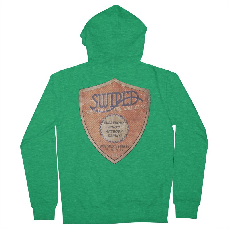 Swiped it from the old lady's liquor cabinet Men's Zip-Up Hoody by iridescent matter