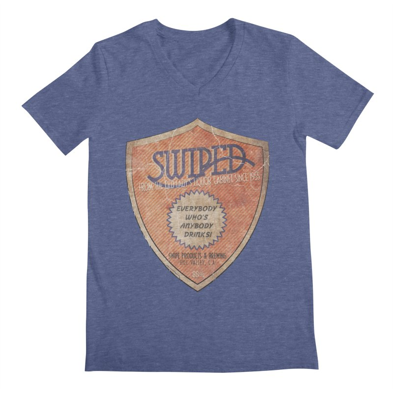 Swiped it from the old lady's liquor cabinet Men's V-Neck by iridescent matter