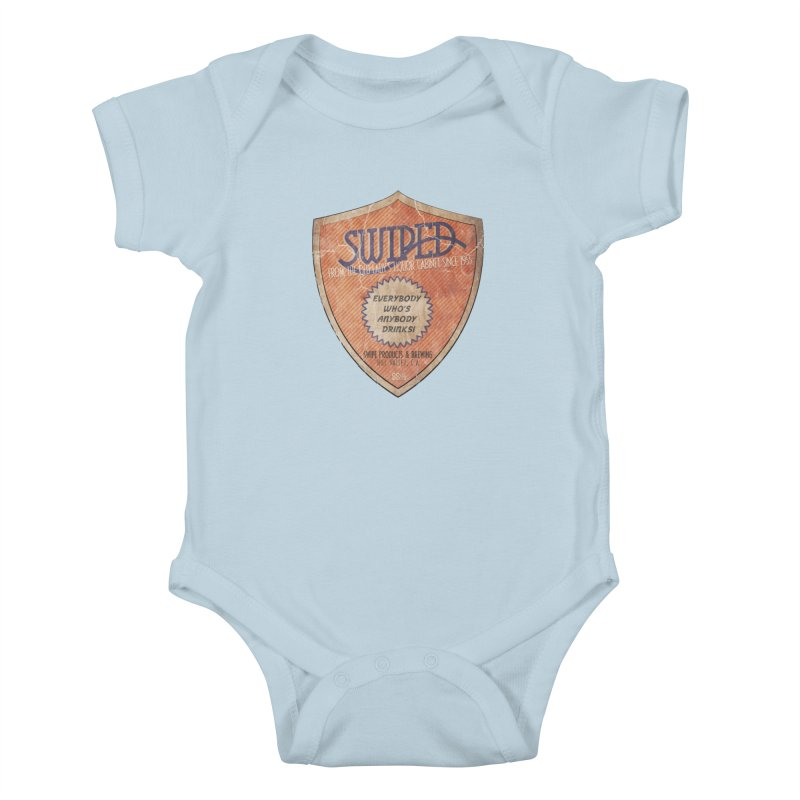 Swiped it from the old lady's liquor cabinet Kids Baby Bodysuit by iridescent matter