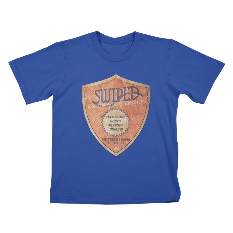 Swiped it from the old lady's liquor cabinet Kids T-Shirt by iridescent matter