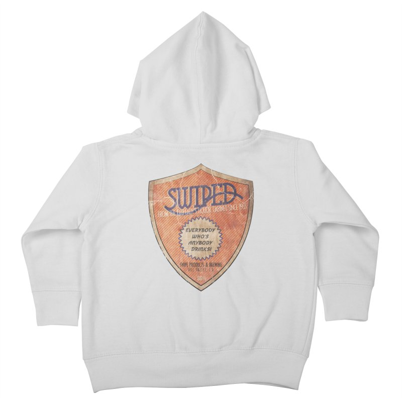 Swiped it from the old lady's liquor cabinet Kids Toddler Zip-Up Hoody by iridescent matter