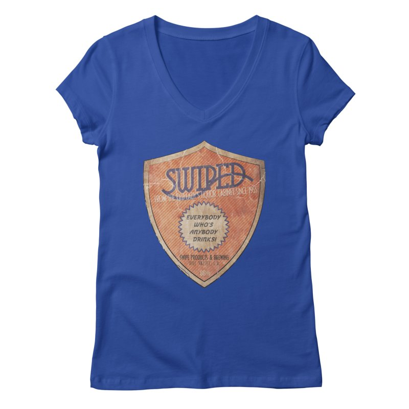 Swiped it from the old lady's liquor cabinet Women's Regular V-Neck by iridescent matter