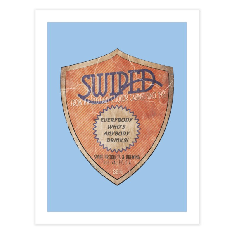 Swiped it from the old lady's liquor cabinet Home Fine Art Print by iridescent matter