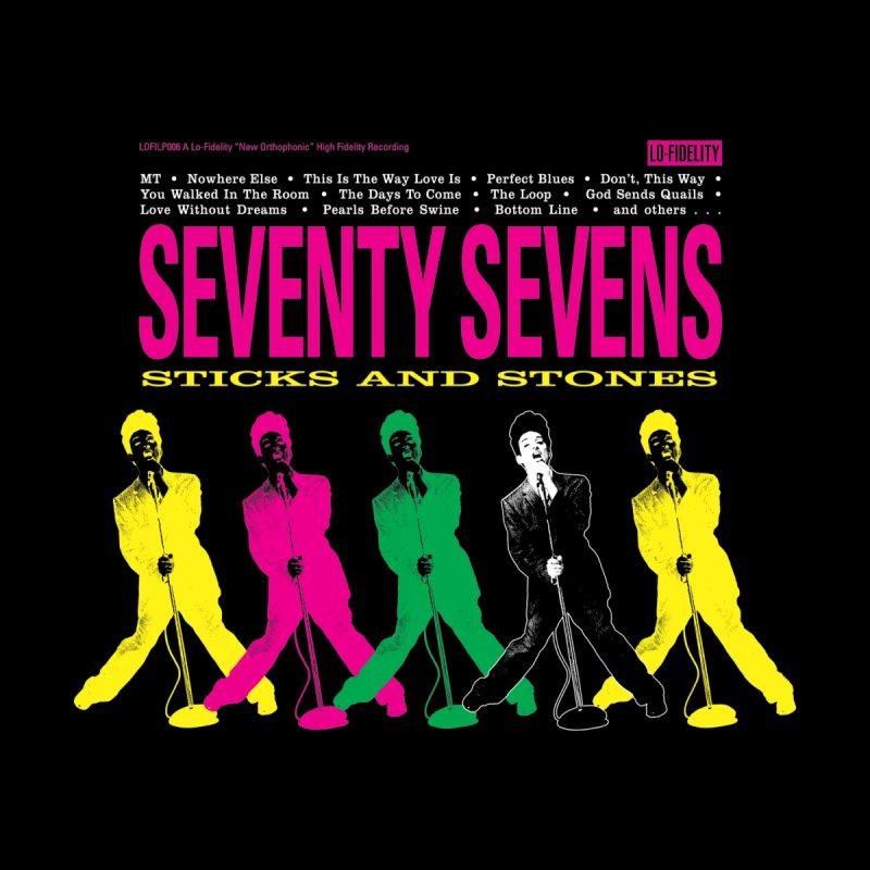Sticks And Stones (Black) Men's T-Shirt by 77s Artist Shop