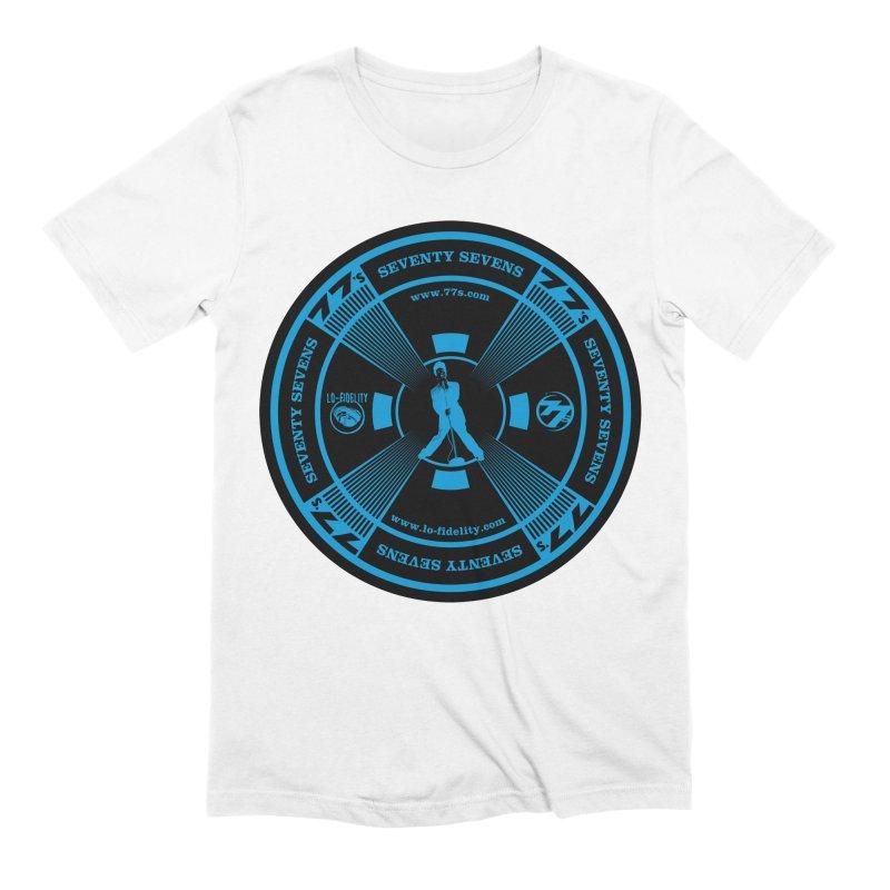 Sticks And Stones Test Pattern (Blue) Men's T-Shirt by 77s Artist Shop