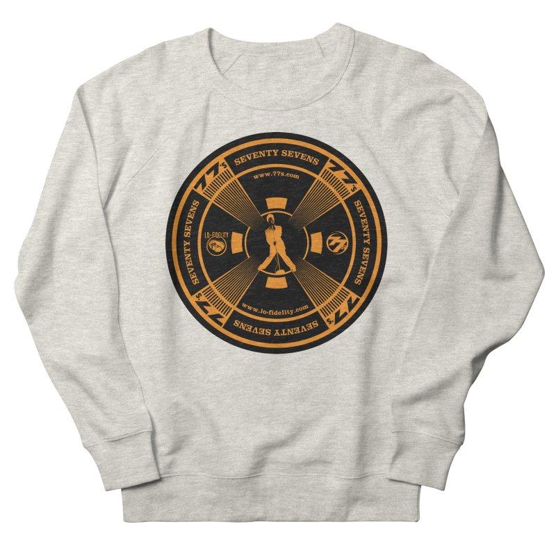 Sticks And Stones Test Pattern (Orange) Women's Sweatshirt by 77s Artist Shop