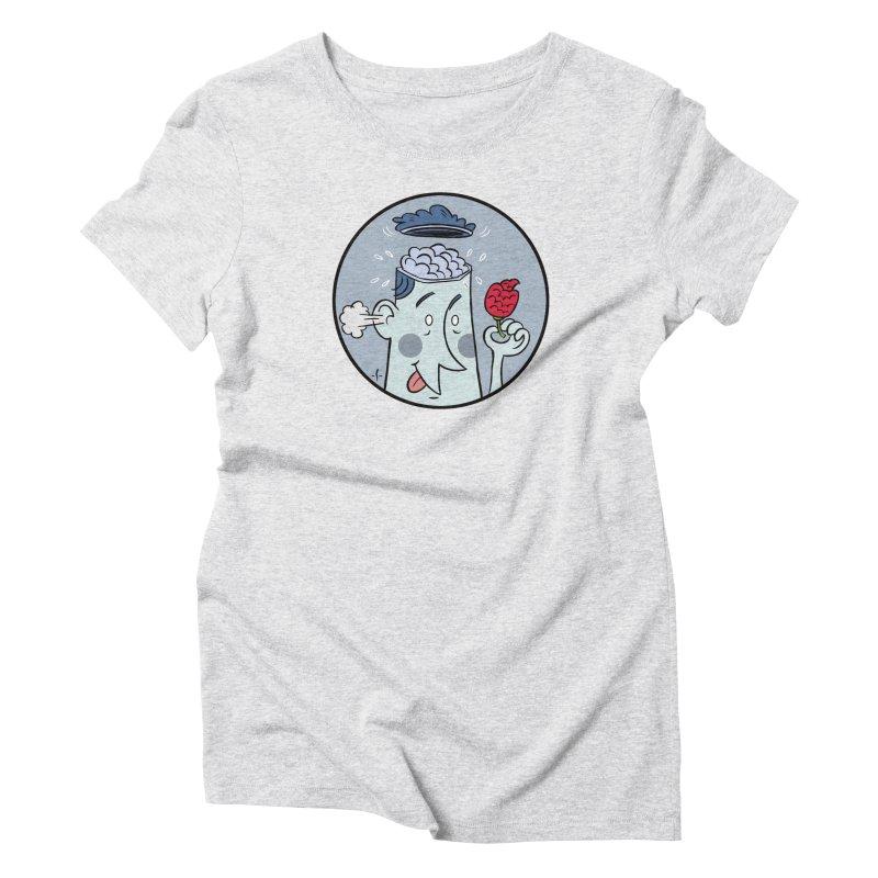 Brain Strain Lid Flip (cool tones) Women's T-Shirt by 7 Pot Club