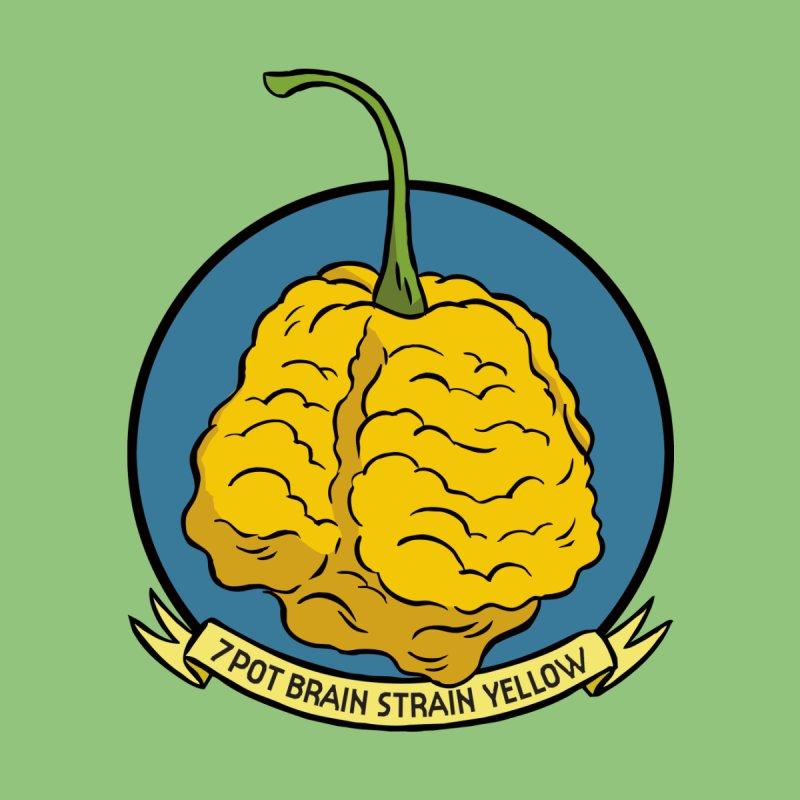 7 Pot Brain Strain Yellow Kids Toddler Zip-Up Hoody by 7 Pot Club