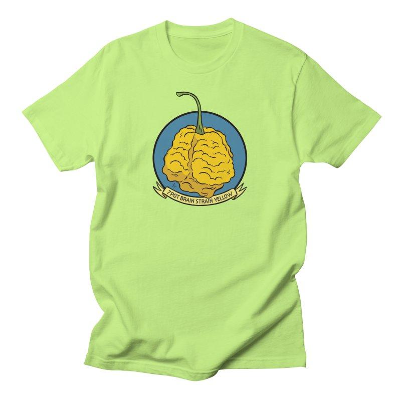 7 Pot Brain Strain Yellow Men's T-Shirt by 7 Pot Club