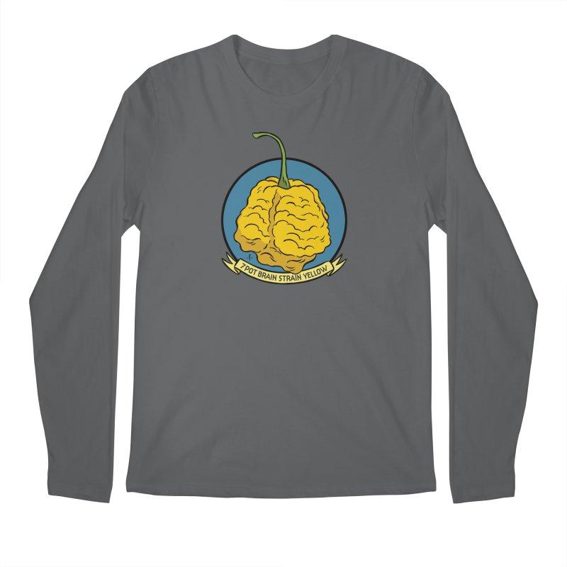 7 Pot Brain Strain Yellow Men's Longsleeve T-Shirt by 7 Pot Club