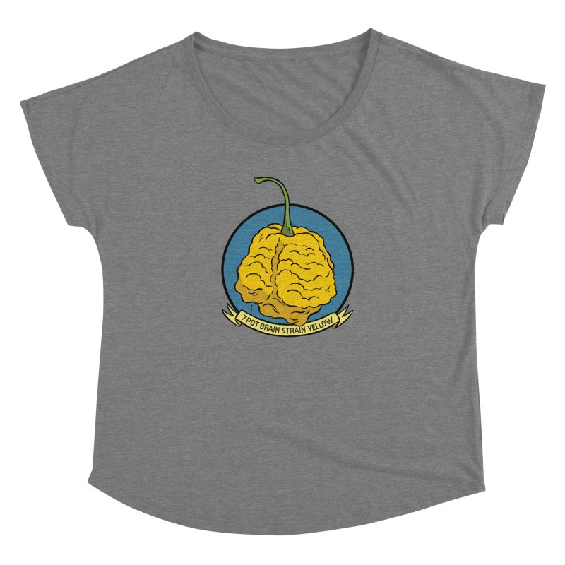 7 Pot Brain Strain Yellow Women's Scoop Neck by 7 Pot Club