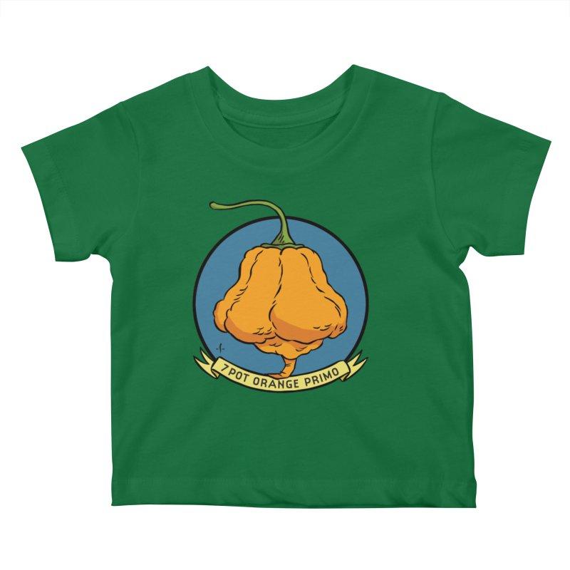 7 Pot Orange Primo Kids Baby T-Shirt by 7 Pot Club