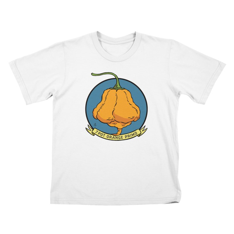 7 Pot Orange Primo Kids T-Shirt by 7 Pot Club