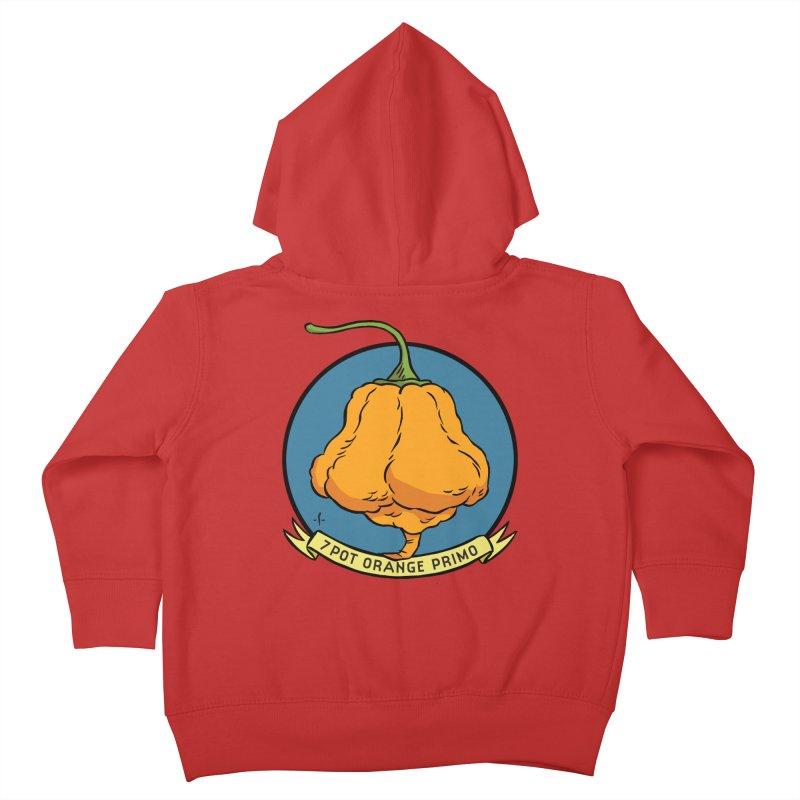 7 Pot Orange Primo Kids Toddler Zip-Up Hoody by 7 Pot Club