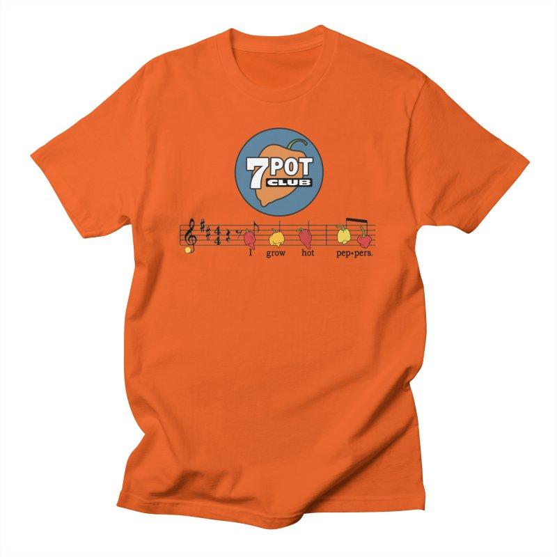 I Grow Hot Peppers Men's T-Shirt by 7 Pot Club