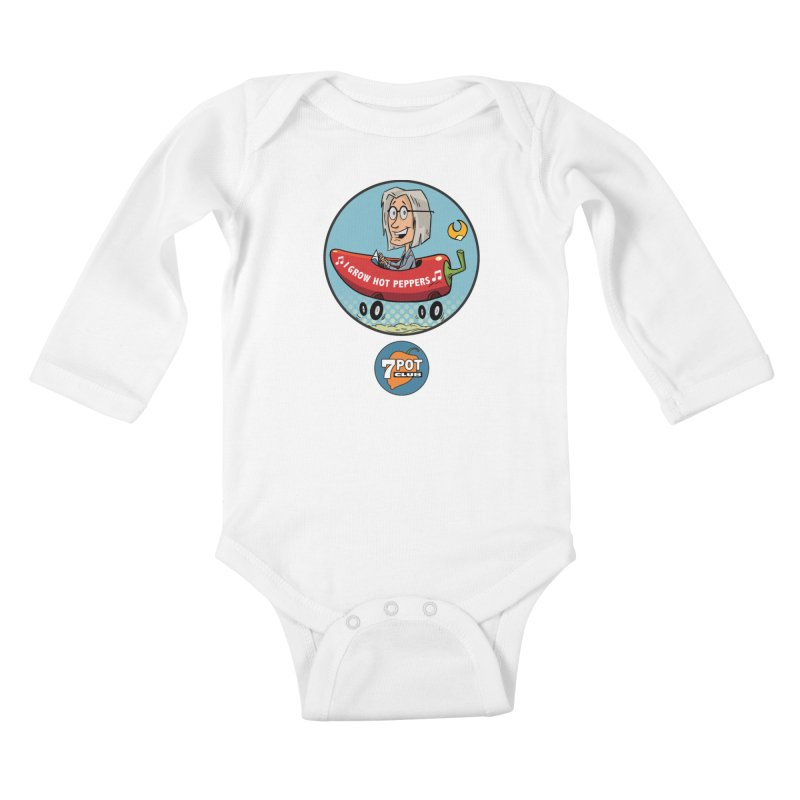 Rob's Peppermobile Kids Baby Longsleeve Bodysuit by 7 Pot Club