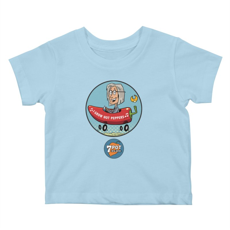 Rob's Peppermobile Kids Baby T-Shirt by 7 Pot Club