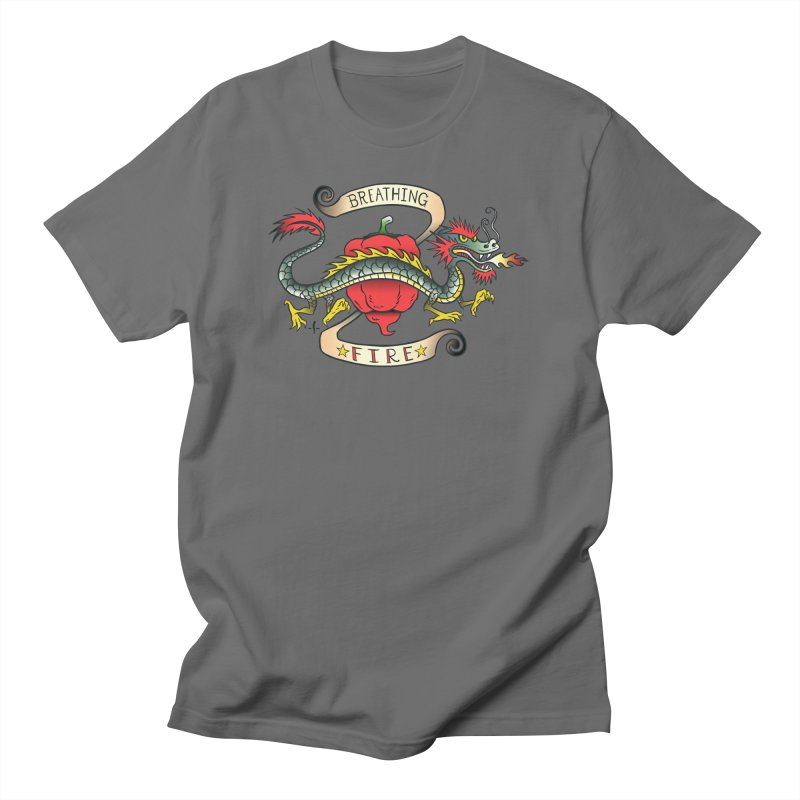Breathing Fire Men's T-Shirt by 7 Pot Club
