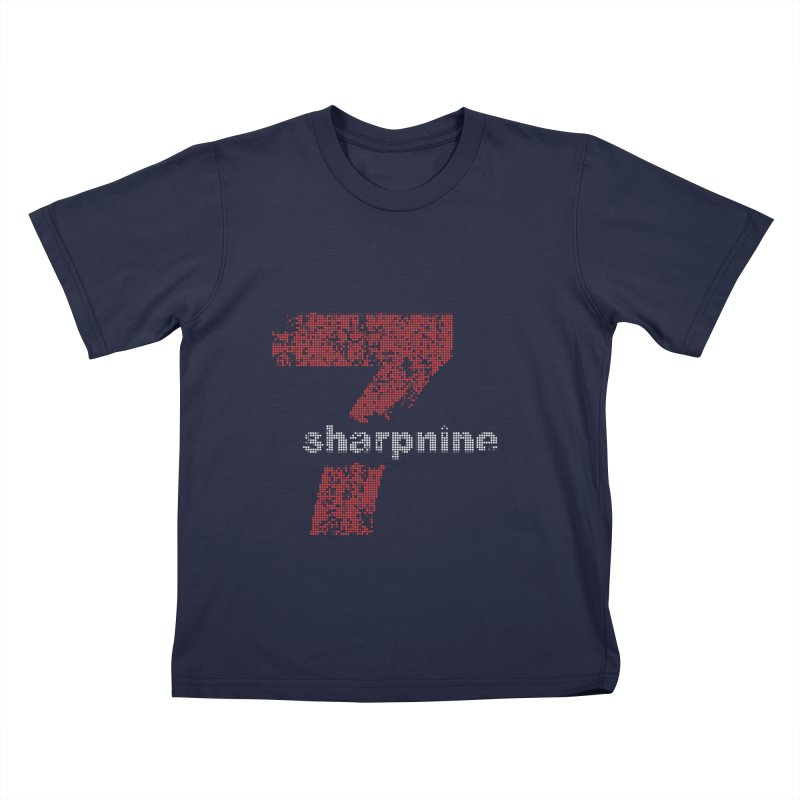 7 Sharp 9 Pixelized in Kids T-Shirt Navy by 7 Sharp 9 Store
