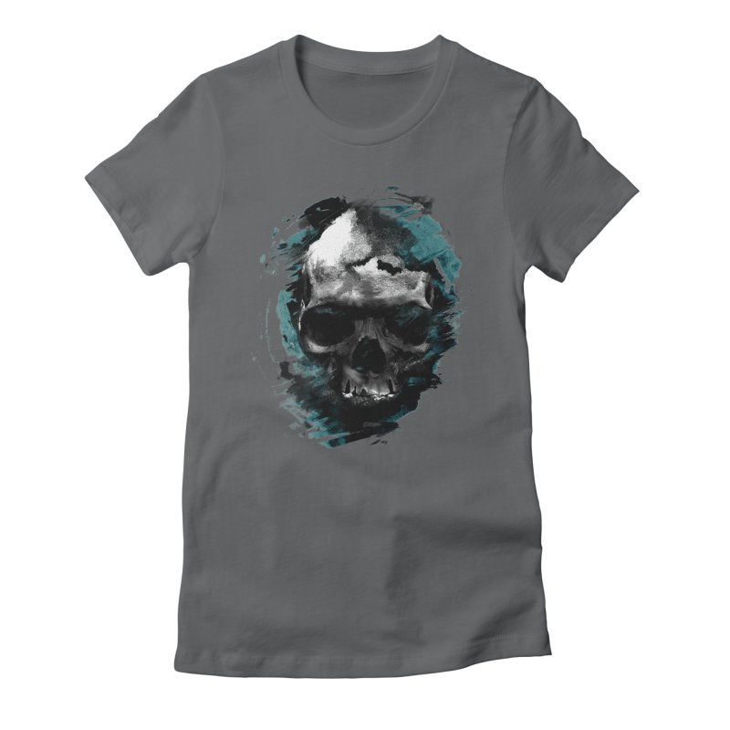 Skulls Women's Fitted T-Shirt by 7sixes's Artist Shop