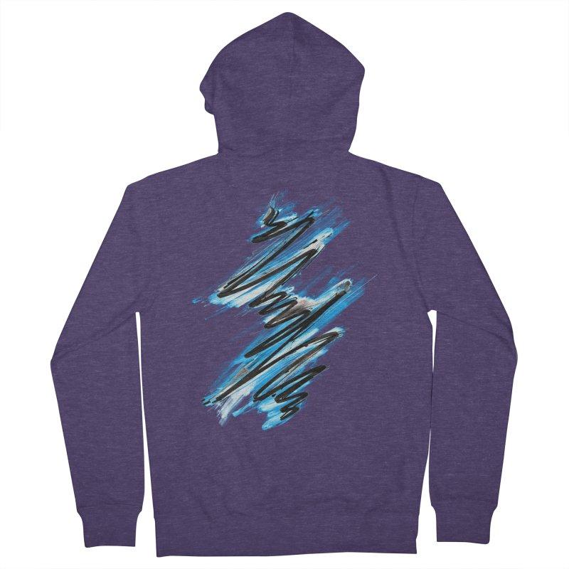 Frostwave Men's Zip-Up Hoody by 7sixes's Artist Shop