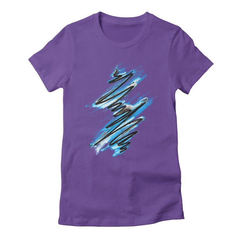 Frostwave Women's Fitted T-Shirt by 7sixes's Artist Shop