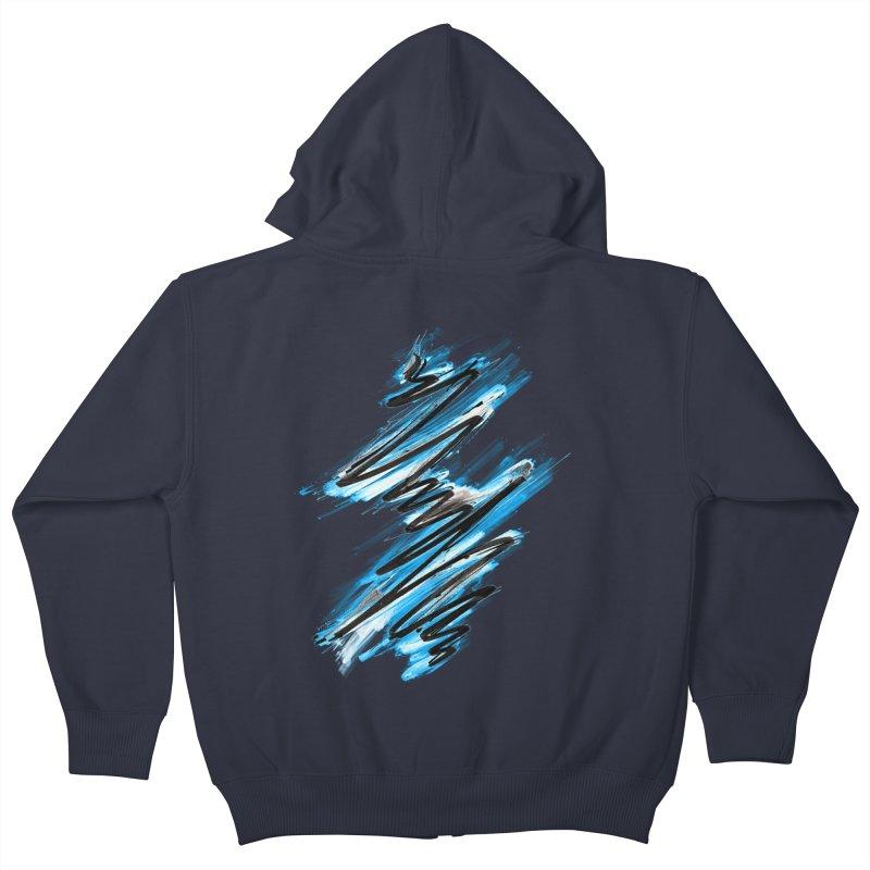 Frostwave Kids Zip-Up Hoody by 7sixes's Artist Shop