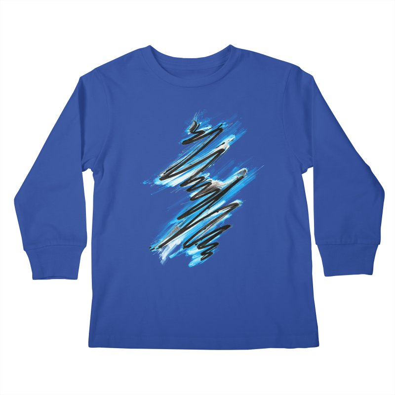 Frostwave Kids Longsleeve T-Shirt by 7sixes's Artist Shop