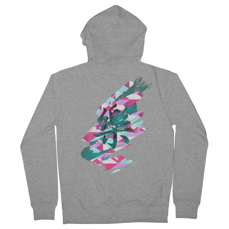 Chaotic Melody Women's French Terry Zip-Up Hoody by 7sixes's Artist Shop