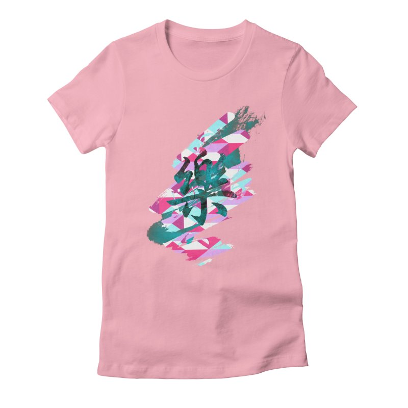 Chaotic Melody Women's Fitted T-Shirt by 7sixes's Artist Shop
