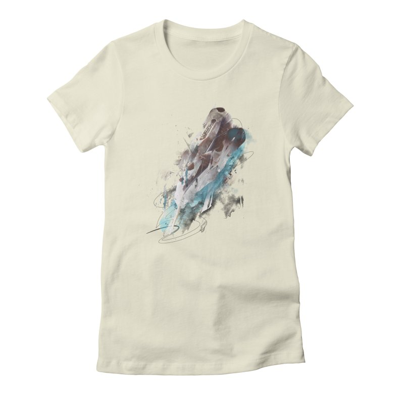 Mightier Than The Sword Women's Fitted T-Shirt by 7sixes's Artist Shop