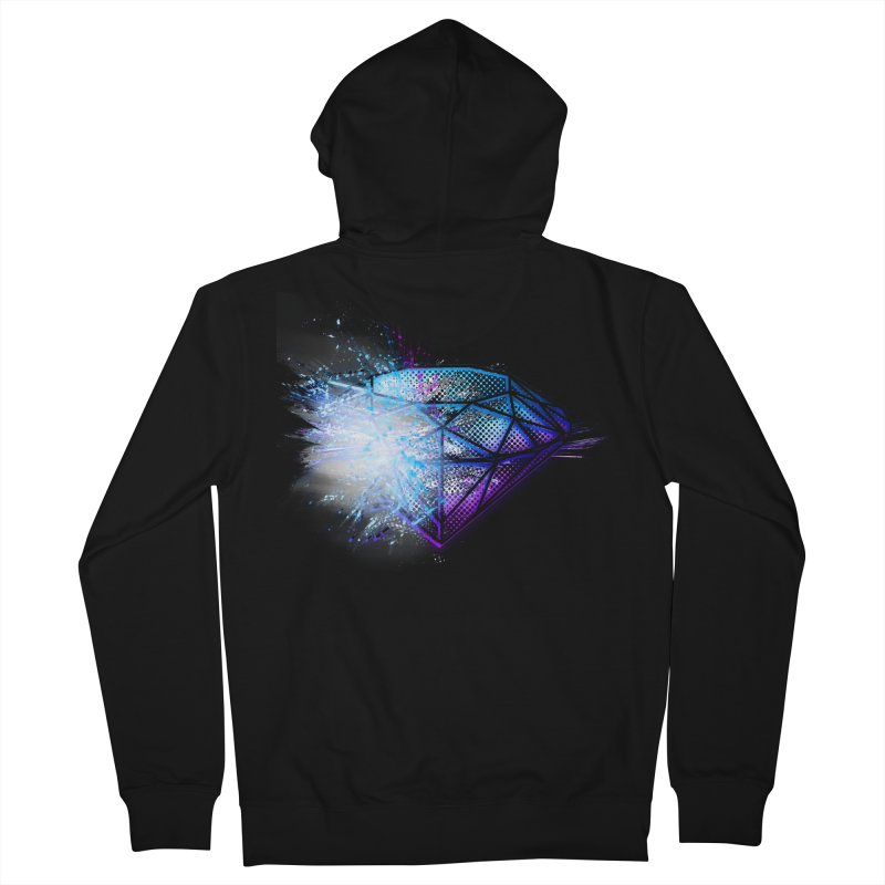 Diamonds Women's Zip-Up Hoody by 7sixes's Artist Shop
