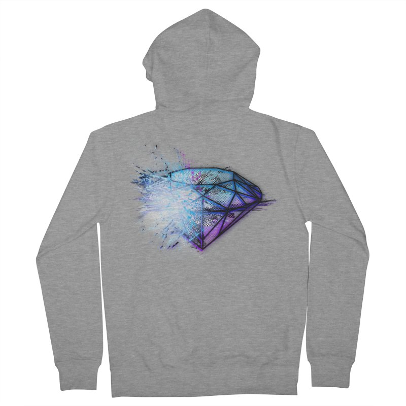 Diamonds Men's Zip-Up Hoody by 7sixes's Artist Shop