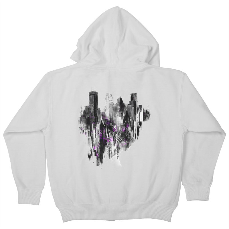 Living City Kids Zip-Up Hoody by 7sixes's Artist Shop
